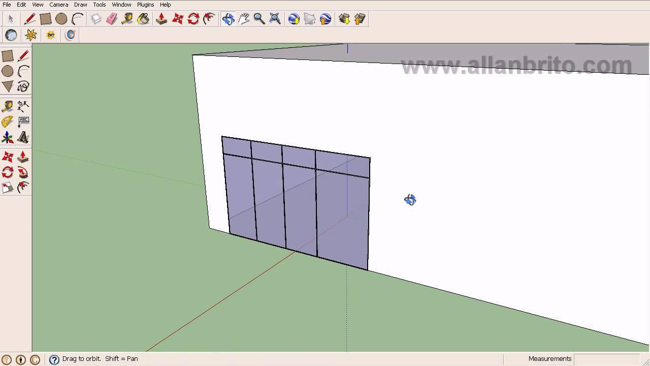 Tutorial sketchup modelagem de esquadrias para maquetes for Mobilia para sketchup 8