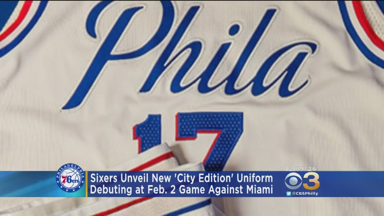 62100373b Sixers Unveil New  City Edition  Uniform. CBS Philly