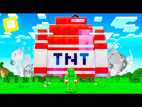 Using MODDED TNT That Is 9999x STRONGER To BREAK Minecraft!