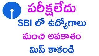 interview jobs in sbi in ap || interview job update in telugu job news sbi jobs in telugu