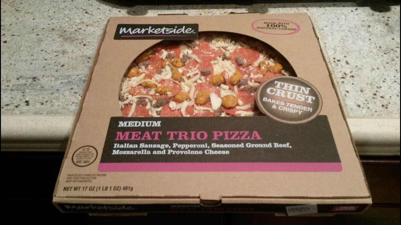 Walmart Marketside Medium Thin Crust Meat Trio Pizza Review - YouTube
