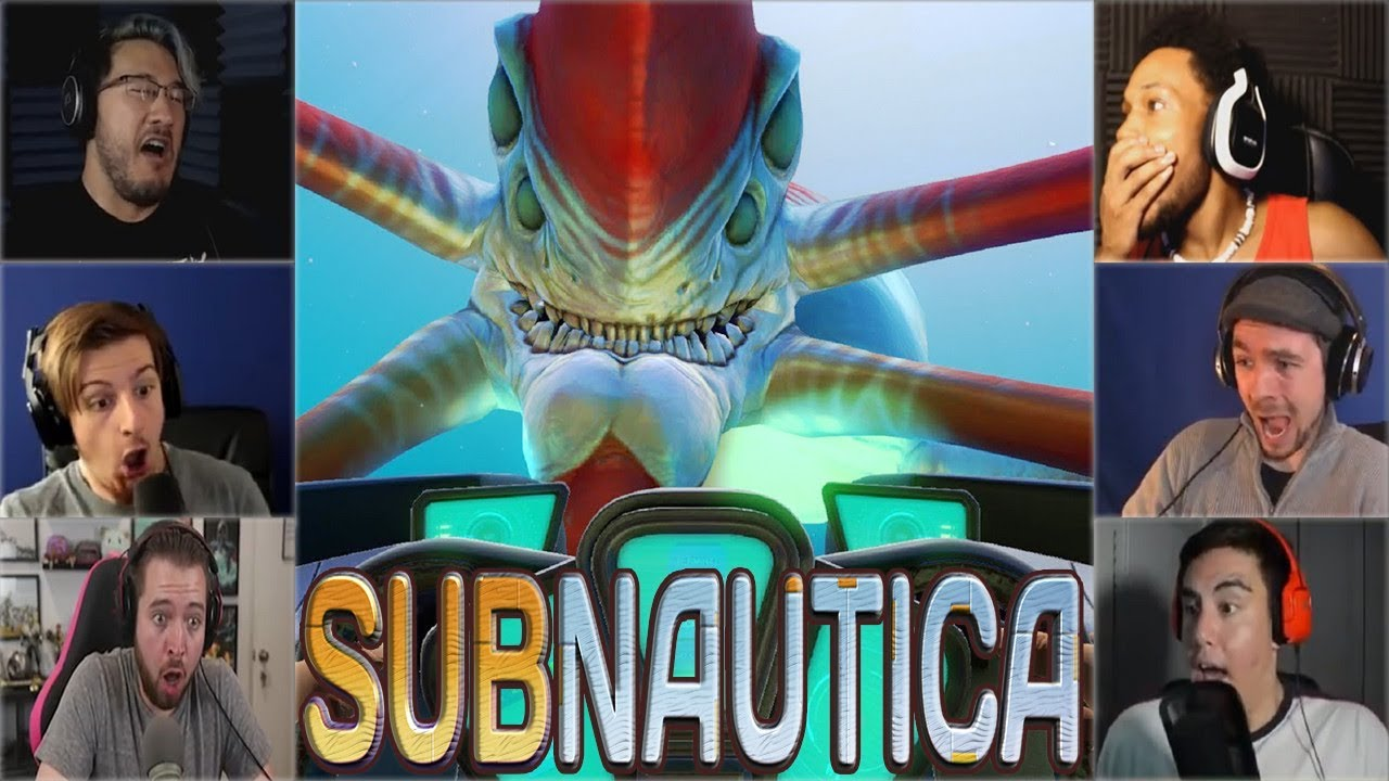 Gamers Reactions to the First Encounter of Reaper Leviathan | Subnautica