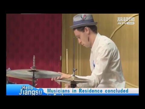 David Lyttle on Jiangsu Television, China 大卫·利特尔