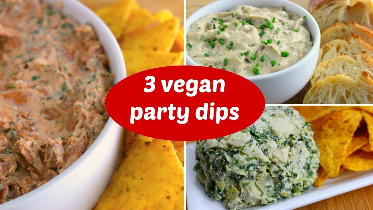 3 Vegan Party Dip Recipes For Game Day Healthy Super Bowl Snacks