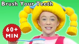 Brush Your Teeth + More | Healthy Habits | Mother Goose Club Phonics Songs