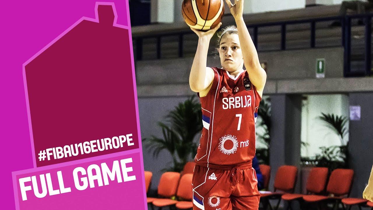 Sweden v Serbia - Full Game - CL 13-16 - FIBA U16 Women's European Championship 2016