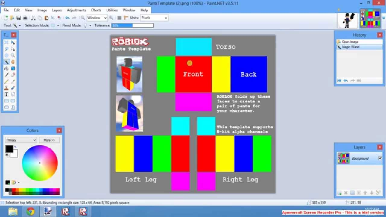 Roblox How To Make Shirts And Pants Without Builders Club Youtube
