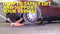 How To Safely Lift and Support Your Vehicle -EricTheCarGuy