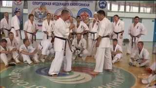 Уроки каратэ. Уходы от удара лоу-кик с контратакой от Хадзимэ Казуми