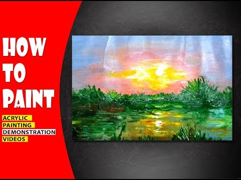 How To Make /Impressionist Landscape/Acrylic Painting Tutorial #07
