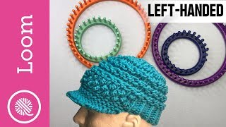 Loom Knit   Bakers Boy Cap (Left Handed)