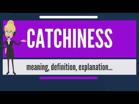 What is CATCHINESS? What does CATCHINESS mean? CATCHINESS meaning, definition & explanation