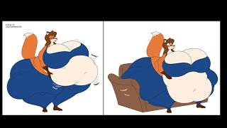 fat furs and anime girls weight gain #8
