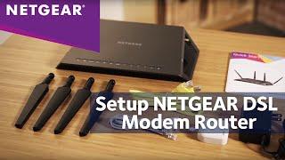 How To Install a NETGEAR DSL Modem Router