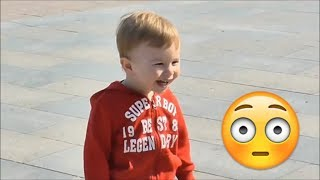 Funny Baby Playing on the Playground