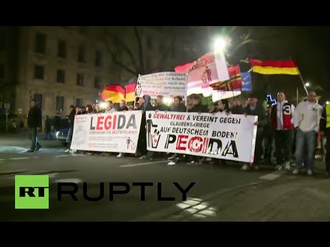 LIVE: camera in the heart of PEGIDA's Dresden demo (30 Mar)