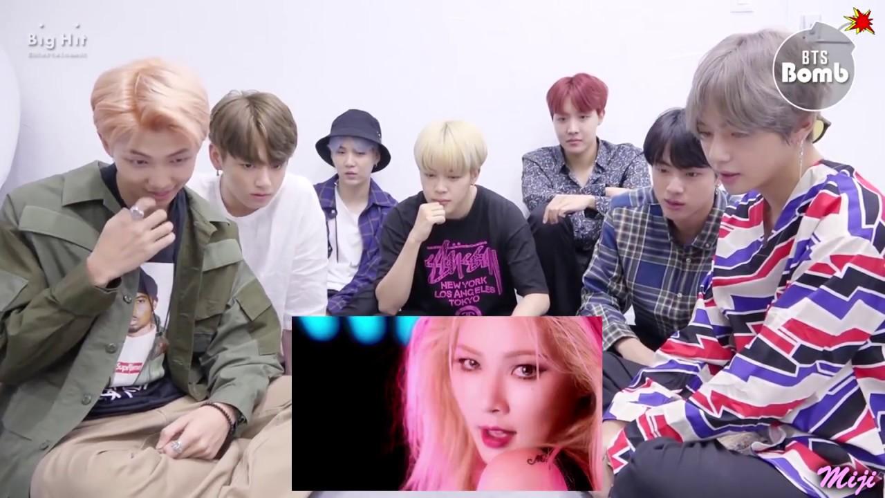 BTS' REACTION TO HYUNA - ROLL DEEP [FM]