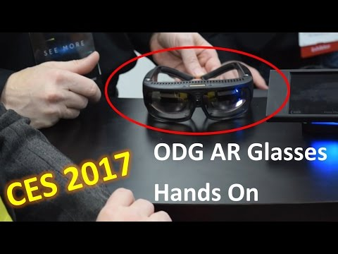 ODG AR Glasses Hands On and HoloLens Comparison | CES 2017