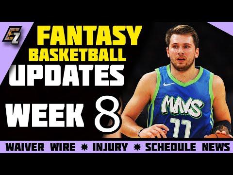 Week 8 Fantasy Basketball Update/Schedule/Waiver Wire Pickups 2019-2020