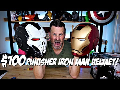 $100 Punisher Iron Man Replica Helmet Review | Hasbro Toys Marvel Legends Unboxing