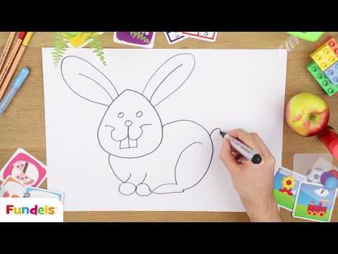 Hoe teken je een konijn?