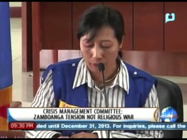 [NewsLife] Crisis Management Committee: Zamboanga tension not religious war - 9/16/13 Travel Video