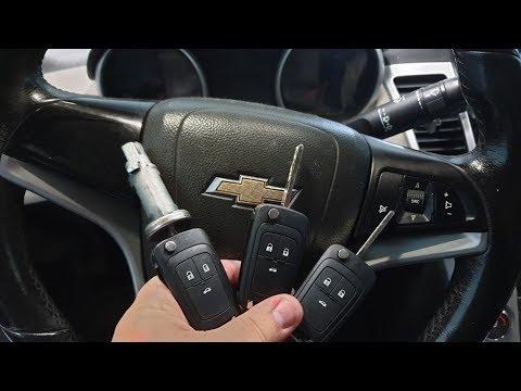 Замена замка зажигания, прописка чип ключей на Шевроле круз, ключ застрял в замке