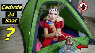 Evden Kovuldum Geceyi Çadırda Geçirdim! Çadırda 24 Saat