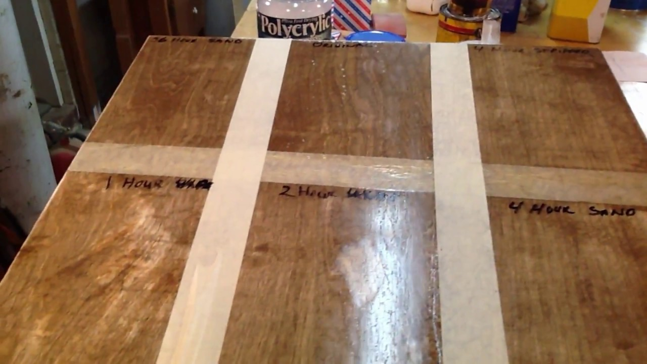 Fixing Polyurethane Bubbles Puddles Runs And Brush Marks