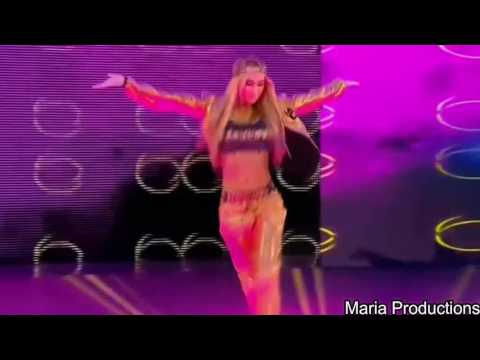Carmella enters the arena with Nikki Bella's theme song (Requested)