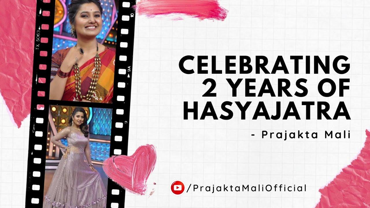 Celebrating 2 Years of Hasyajatra | Prajakta Mali | Maharashtrachi Hasyajatra | Makeup| Indian Looks