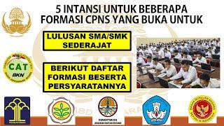 FORMASI CPNS 2021 LULUSAN SMA