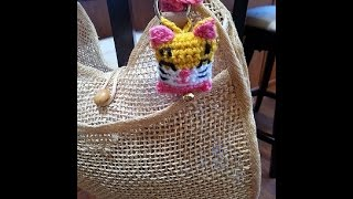 Crochet Quick And Easy Beginner Lucky Cat Bag/key Chain Diy Tutorial