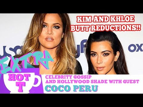 Kim & Khloe Kardashian Matching Butt Reduction Surgeries: Extra Hot T