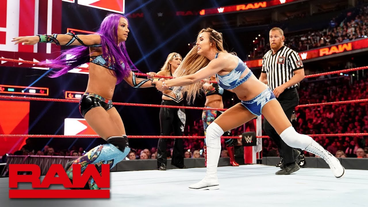 Sasha Banks, Bayley, Beth Phoenix & Natalya vs  Nia Jax, Tamina & The  IIconics: Raw, April 1, 2019
