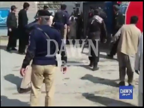 Suicide bomber strikes at Charsadda court gate, 8 dead