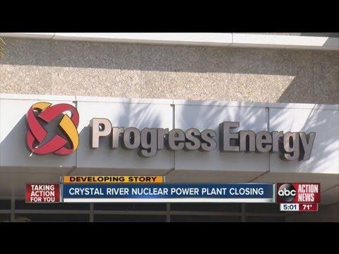 Duke Energy subsidiary Progress Energy Florida officially closing Crystal River nuclear plant