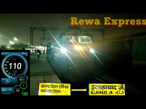 Onboard Journey In 12428 Delhi Anand Vihar- Rewa Express: ANVT To Allahabad