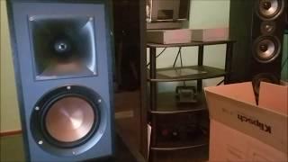 Klipsch R 51M bookshelf speakers unboxing