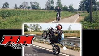 si torna al motard   crm 85 wheelies