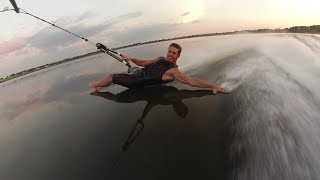 Barefoot Waterskiing Freestyle Craziness