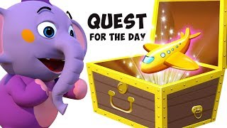 Quest for the day - Mystery Toy Treasure | Educational Cartoons for Children | ABC Learning Club