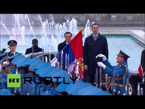 Serbia: Chinese PM Li Keqiang arrives in Serbia for first official visit