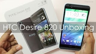 HTC Desire 820 Unboxing First Boot & Hands on Overview