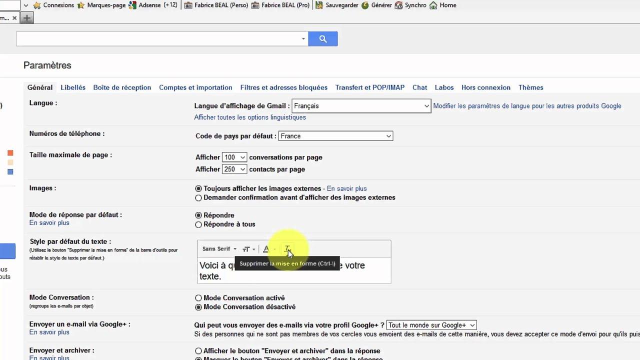 Comment modifier la taille des caractères lors de l'écriture d'un email avec Gmail