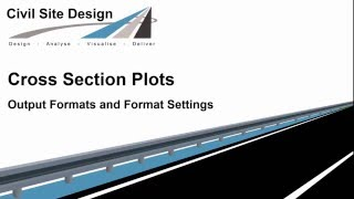 Cross Section Plots - Output Formats and Format Settings