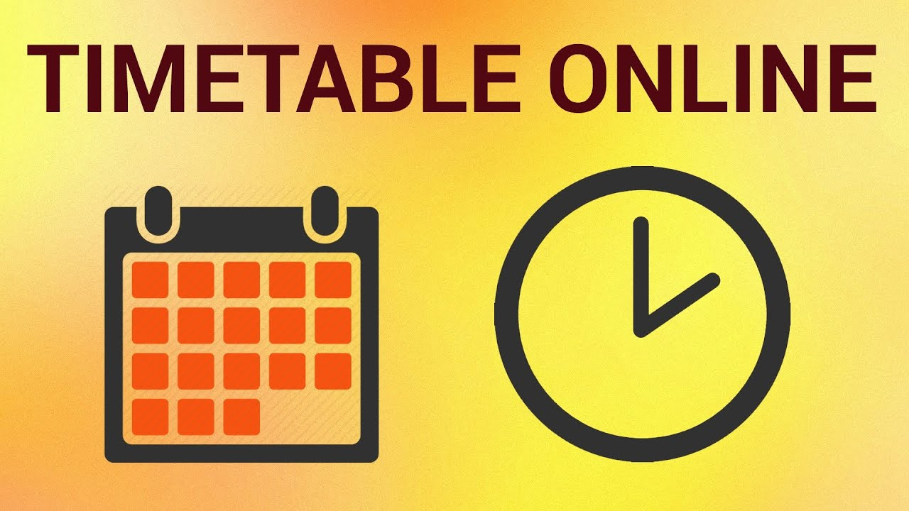 How to Make a Schedule and Timetable Online - YouTube