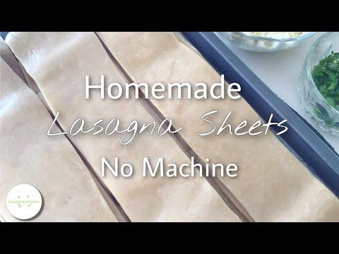 Lasagna Sheets Homemade Pasta No Machine