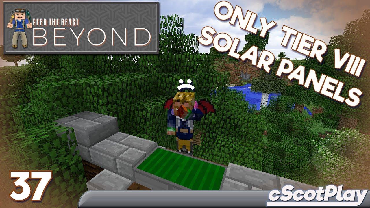 Ftb Beyond W Cscot Ep 37 Solar Flux Reborn Solar Panels Youtube