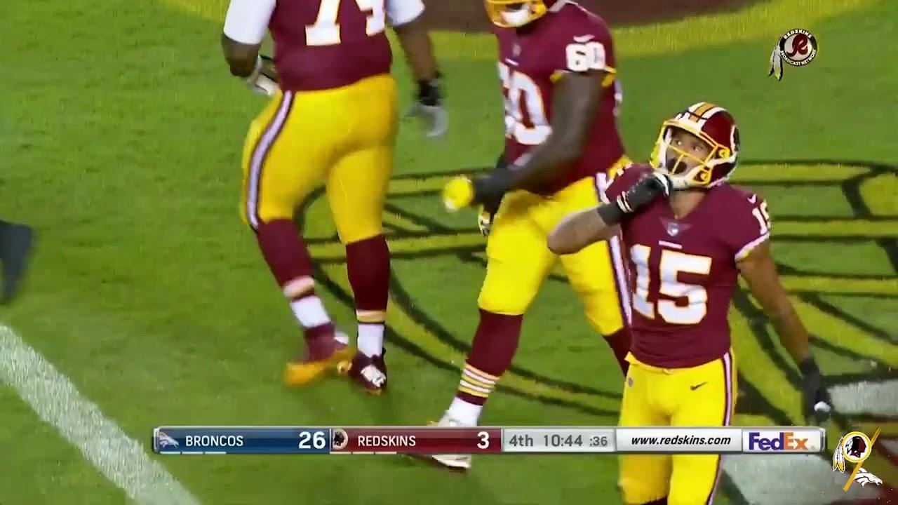 low priced b17a5 428d3 Simmie Cobbs Jr. 18 yard touchdown reception   Preseason Week 3   DEN @ WAS    08.24.18